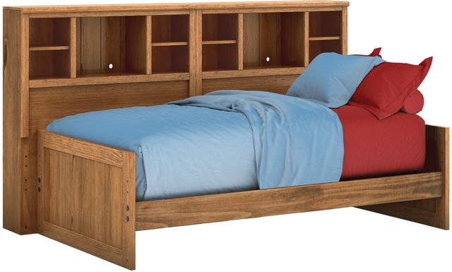 Kids Creekside Chestnut 3 Pc Twin Bookcase Wall Bed