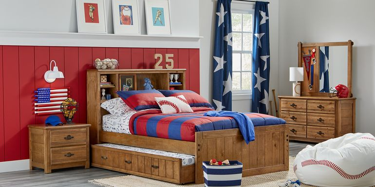 Kids Creekside Chestnut 4 Pc Twin Bookcase Bedroom
