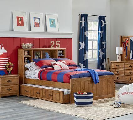 Kids Creekside Chestnut 5 Pc Full Bookcase Bedroom