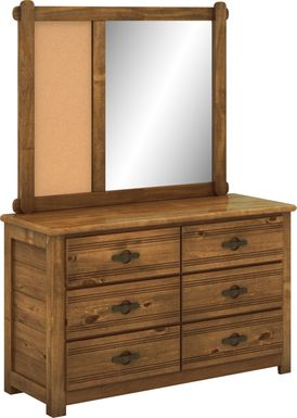 Kids Creekside Chestnut Dresser & Mirror Set