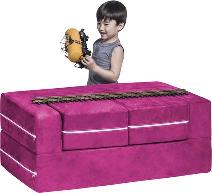 Kids Cubblie Pink Convertible Loveseat and Ottomans
