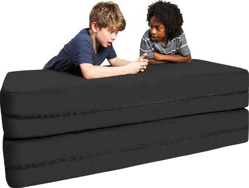 Kids Cubex Black Convertible Sofa and Ottoman