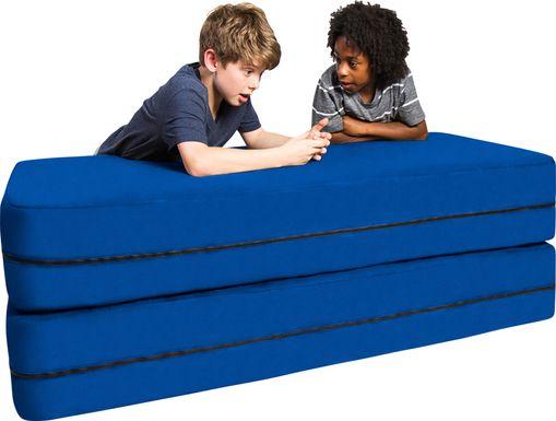 Kids Cubex Blue Convertible Sofa and Ottoman
