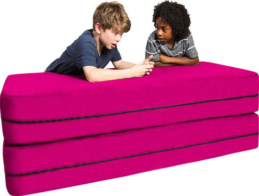 Kids Cubex Pink Convertible Sofa and Ottoman