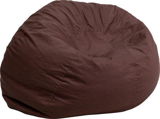 Kids Cucullu Brown Large Bean Bag Chair