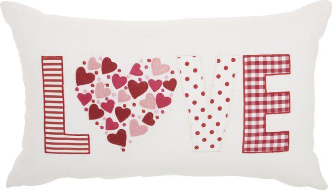Kids Cushy Love White Accent Pillow