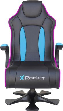 Kids Cyrene Black/Blue Gaming Chair