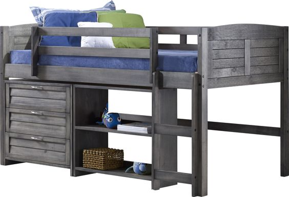 Kids Daintree Gray Twin Jr. Loft Bed