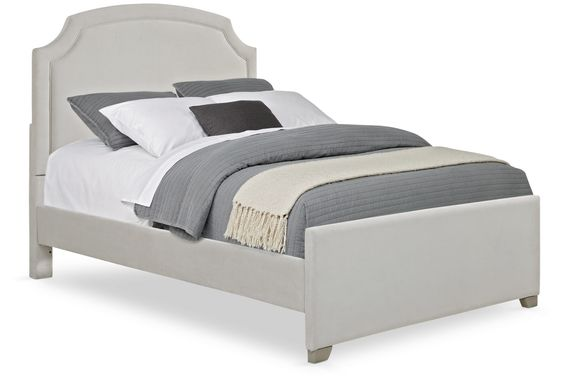 Kids Dakotah Gray 3 Pc Full Upholstered Bed