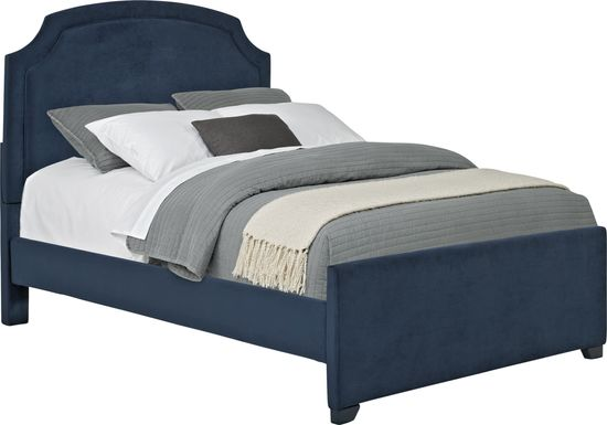 Kids Dakotah Navy 3 Pc Full Upholstered Bed