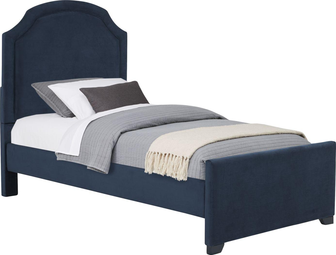Kids Dakotah Navy 3 Pc Twin Upholstered Bed