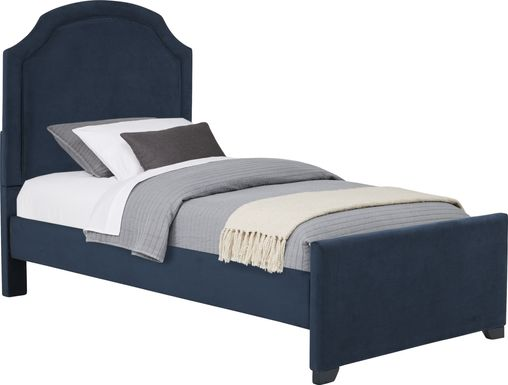 Kids Dakotah Navy 3 Pc Twin Upholstered Bed