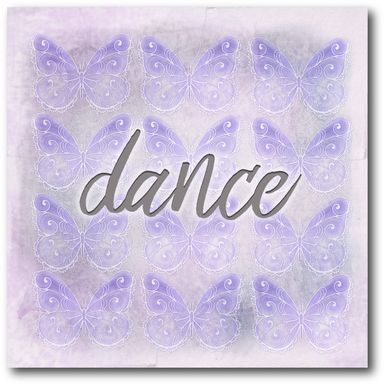 Kids Dancing Butterflies Purple Artwork