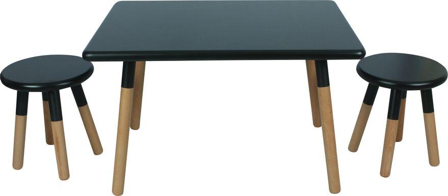 Kids Despina Black 3 Pc Table Set
