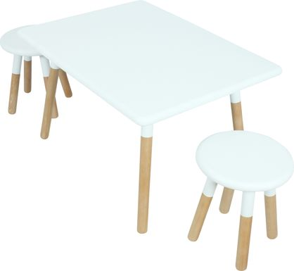 Kids Despina White 3 Pc Table Set