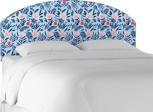 Kids Devany Blue Full Upholstered Headboard