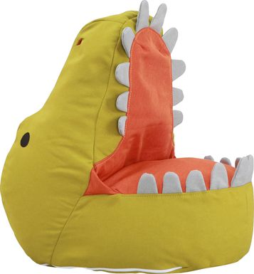 Kids Dexter Dinosaur Green Bean Bag Chair