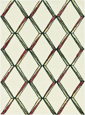 Kids Diamond Basic Beige 5' x 7' Rug