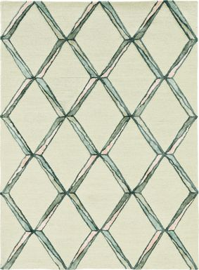 Kids Diamond Basic Cream  5' x 7' Rug