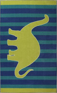 Kids Dinosaur Green 5' x 8' Rug