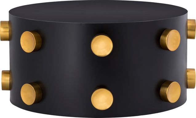 Discostar Black/Gold Cocktail Table