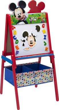 Kids Disney Mickey Mouse Red Easel with Storage