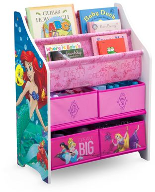 Kids Disney Princess Pink Bookcase