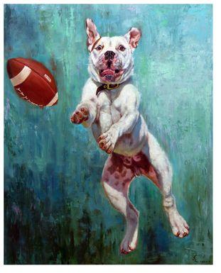 Kids Doggy Catch Blue Artwork