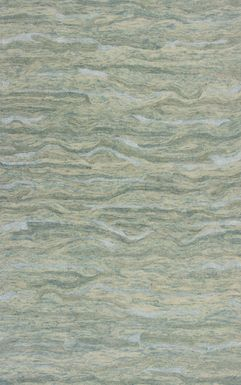 Kids Dune Elements Green 5' x 7' Rug