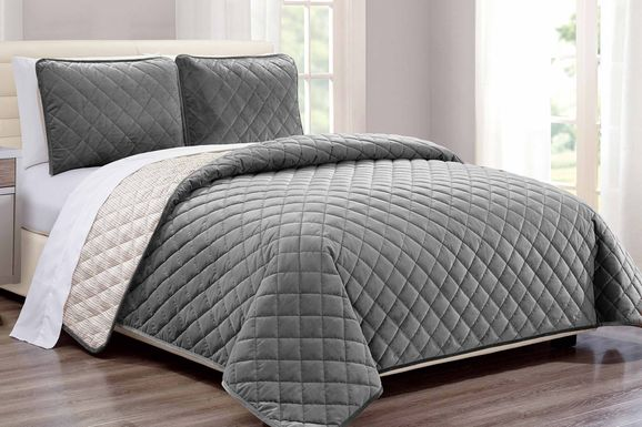 Kids Earthy Tones Gray 2 Pc Twin Comforter Set