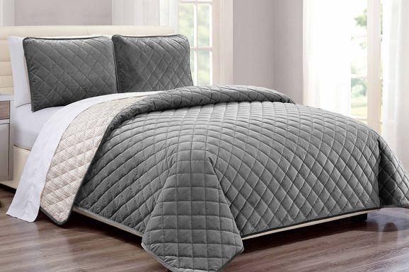 Kids Earthy Tones Gray 2 Pc Twin Comforter Set