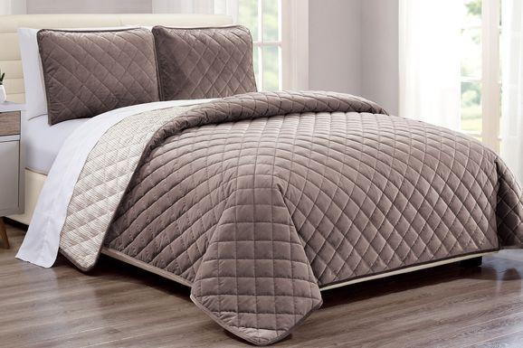 Kids Earthy Tones Taupe 2 Pc Twin Comforter Set