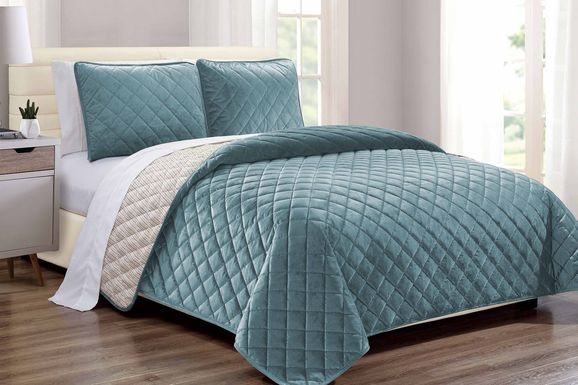 Kids Earthy Tones Teal 2 Pc Twin Comforter Set