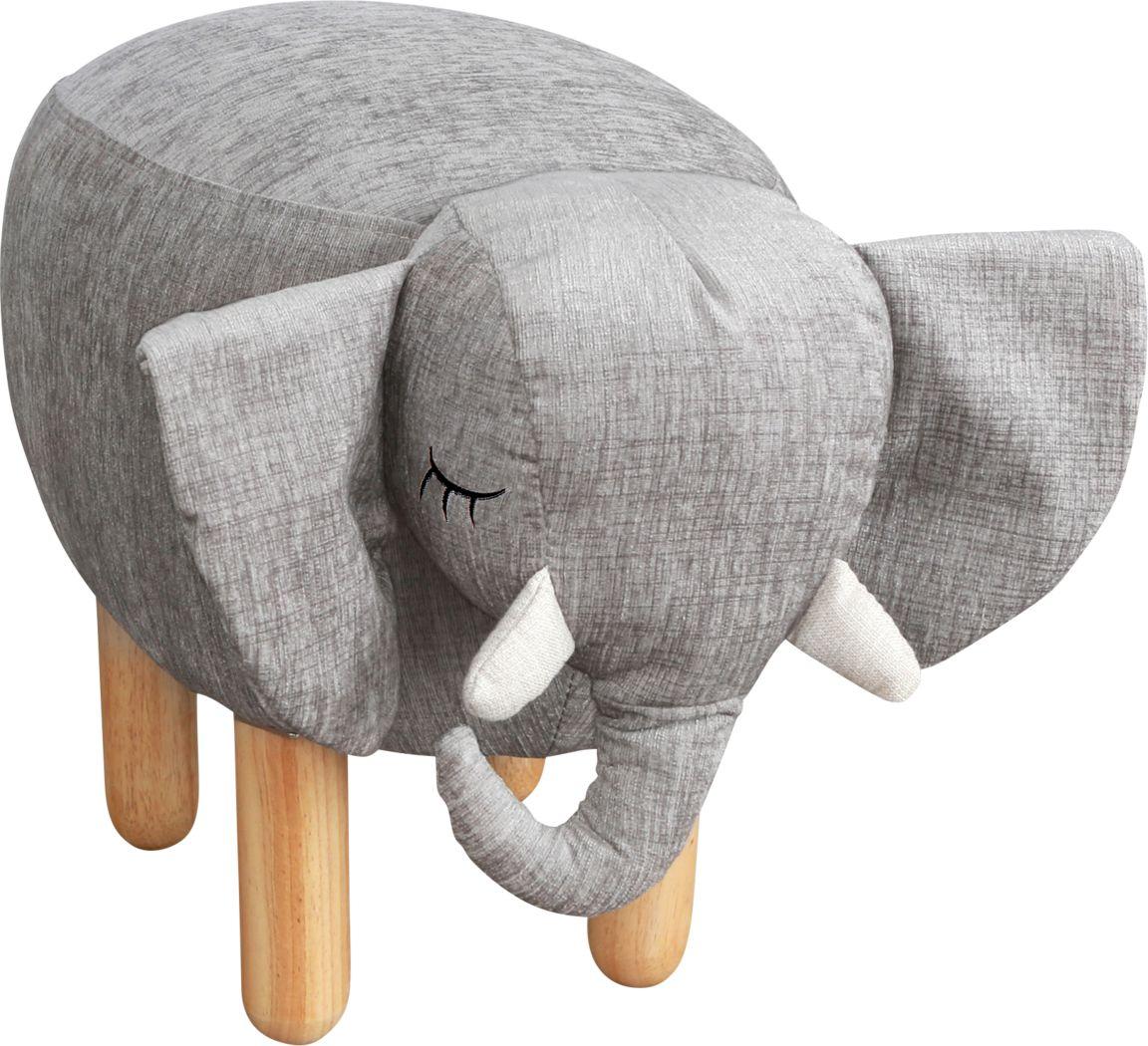 Kids Ellie the Elephant Gray Ottoman