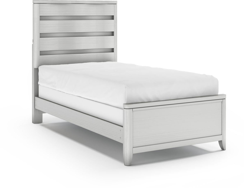 Kids Elliot Park Platinum 3 Pc Twin Panel Bed