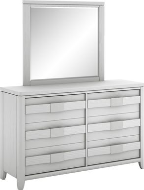 Kids Elliot Park Platinum Dresser & Mirror Set
