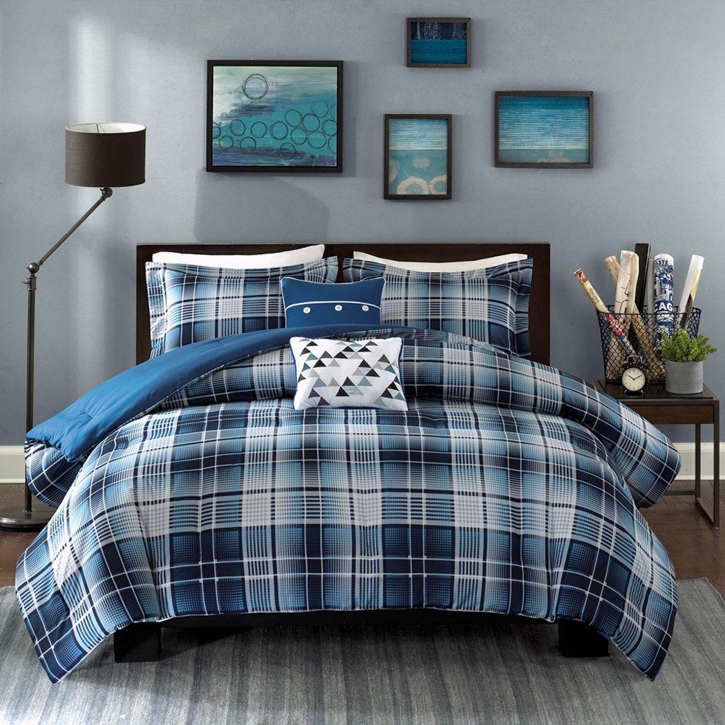 Kids Elton Blues Blue 4 Pc Twin XL Comforter Set