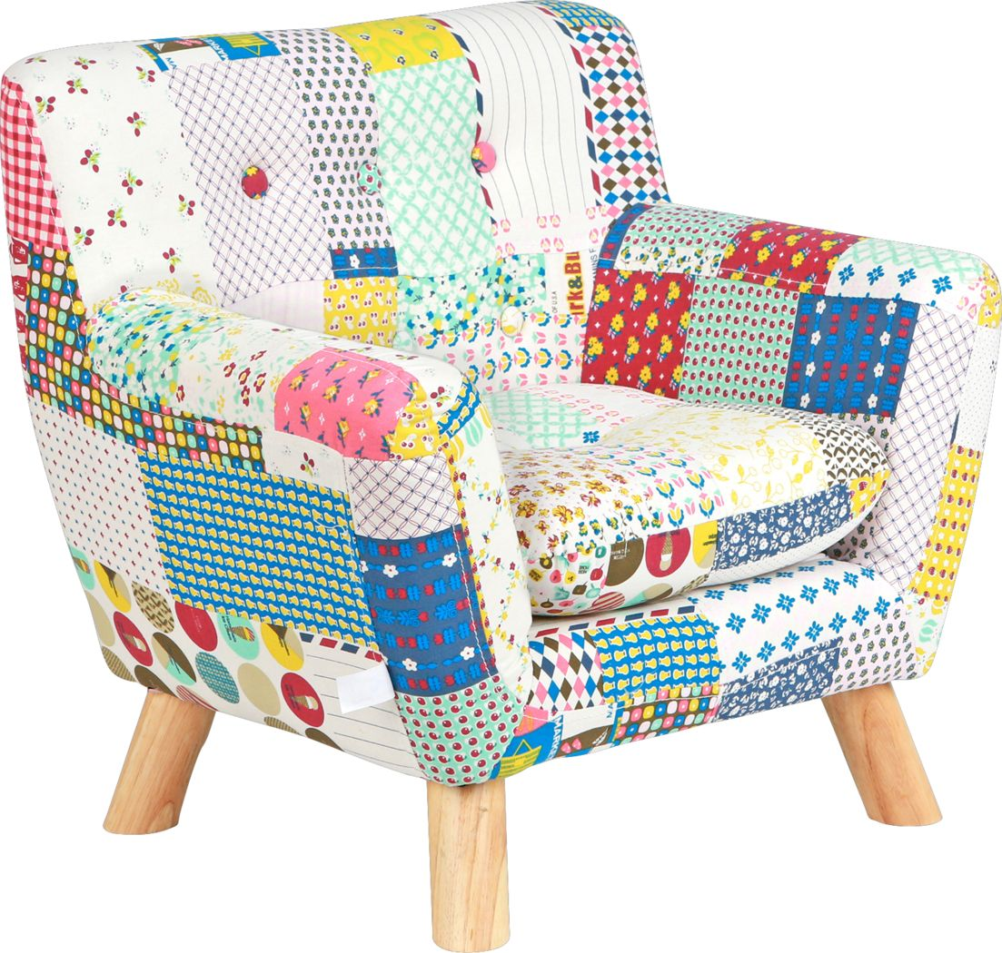 Kids Elvy White Accent Chair