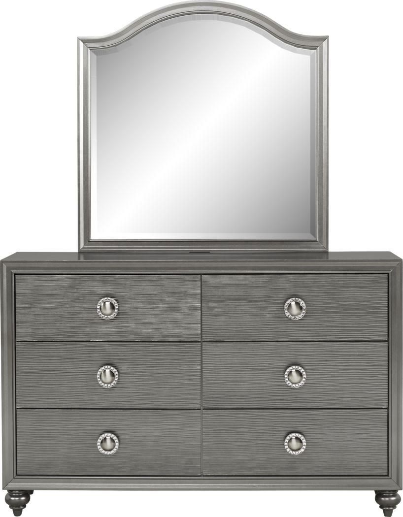 Kids Evangeline Charcoal Dresser & Mirror Set