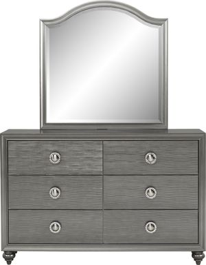Kids Evangeline Charcoal Dresser & Mirror Set