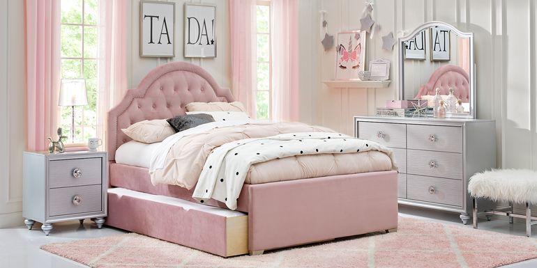 Kids Evangeline Silver 5 Pc Twin Upholstered Bedroom