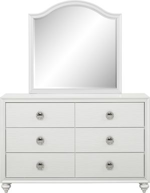 Kids Evangeline White Dresser & Mirror Set