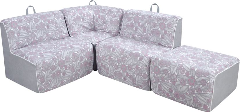 Kids Everin Gray Sectional