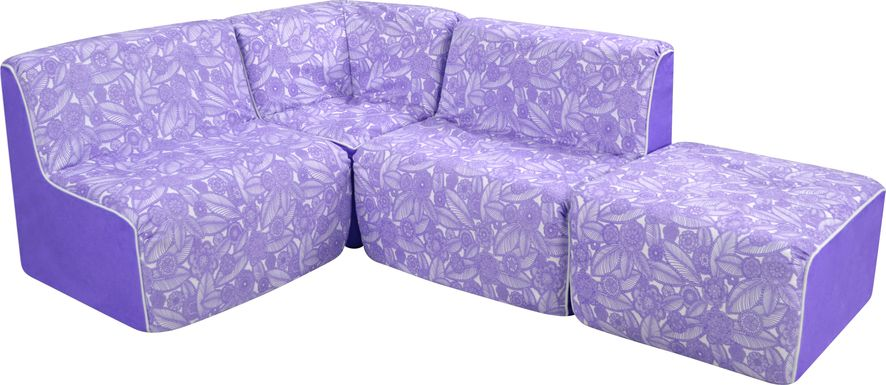 Kids Everin Purple Sectional