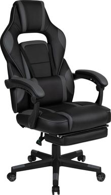 Kids Exfor Gray Gaming Chair with Footrest