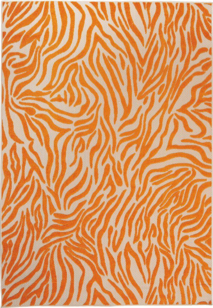 Kids Festive Coral Orange 4' x 6' Rug