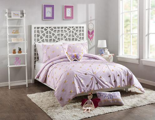 Kids Fiona Unicorn Lilac 4 Pc Full/Queen Comforter Set