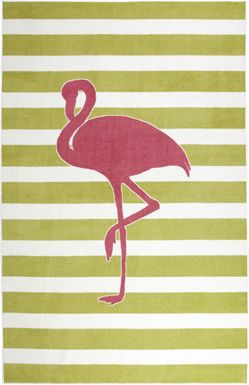 Kids Flamingo Way Fuchsia 5' x 8' Rug
