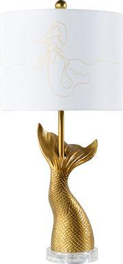 Kids Fleenor Way Gold Lamp