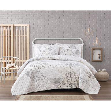 Kids Floral Tales Cream 3 Pc Full/Queen Comforter Set